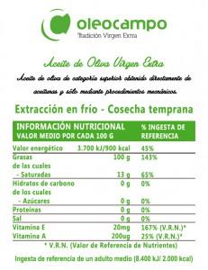 tabla nutricional oleocampo eco