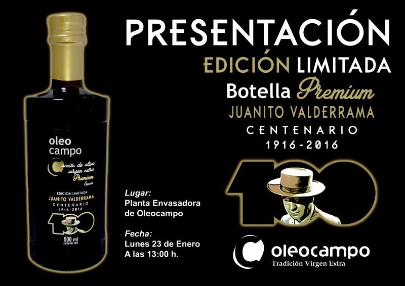 CARTEL PRESENTACION EDICION LIMITADA CENTENARIO JUANITO VALDERRAMA