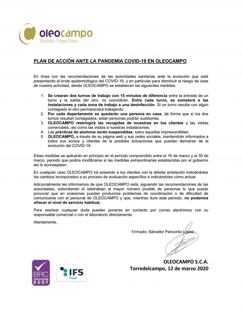 PLAN DE ACCION PANDEMIA COVID-19