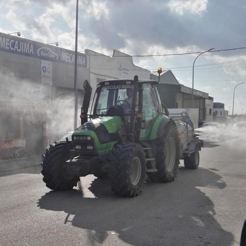 tractor desinfeccion calles